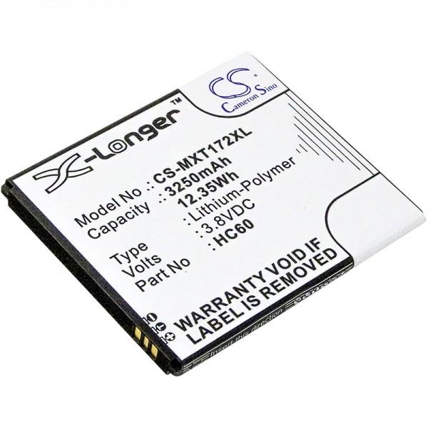 Akku ersetzt Motorola HC60 (Moto C Plus) 3250mAh