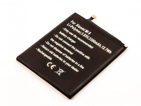 Akku passend für Xiaomi Mi 8, Dipper, Mi 8 Dual (BM3E) 3300mAh