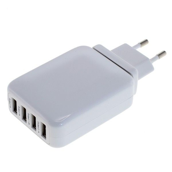 4 Port USB Ladeadapter 4.2A