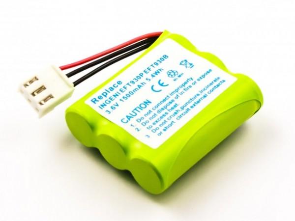 Akku für Ingenico EFT930B, 251360788 Ni-MH 1500mAh