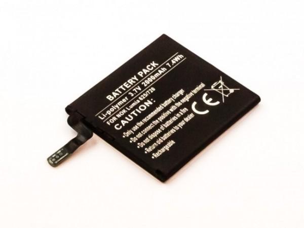 Akku passend für Nokia Lumia 625, Lumia 720T, 2000mAh Li-Ion