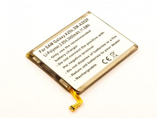 Akku passend für Samsung Galaxy A20e, SM-A202F 3000mAh