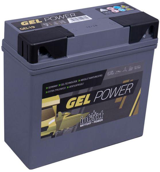 Intact GEL-19 12V 19Ah (c20) Gel-Power Antriebsbatterie