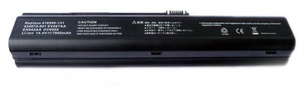 Akku passend für HP Pavilion dv9000, dv9100, 6600mAh