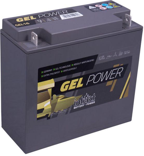Intact GEL-16 12V 16Ah (c20) Gel-Power Antriebsbatterie