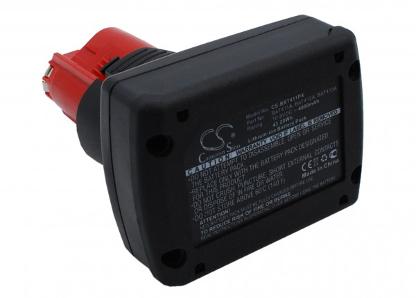 Akku passend für Bosch GSR 10.8 V-LI2, PSR 10.8 LI2 10,8V 4Ah