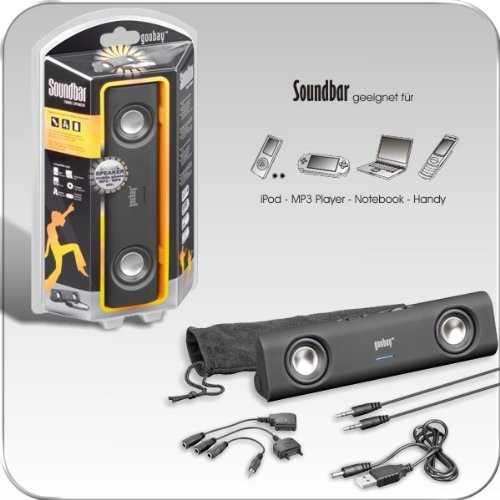 Soundbar Lautsprecher 3W Schwarz