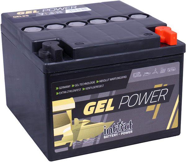 Intact GEL-25 12V 25Ah (c20) Gel-Power Antriebsbatterie