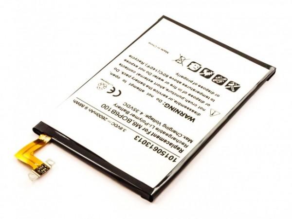 Akku ersetzt HTC One M8, 35H00214-00M, B0P6B100 2600mAh