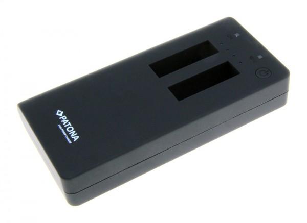 Powerbank für 2x GoPro Hero 4 Akkus inkl. USB-Outp