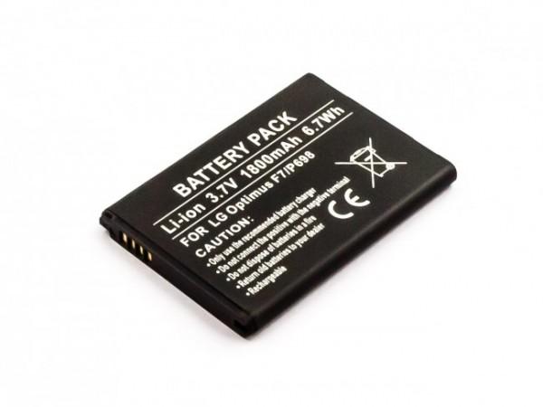 Akku passend für LG Bello 2, G3, Optimus F7, L8, L80, LTE 3 1800