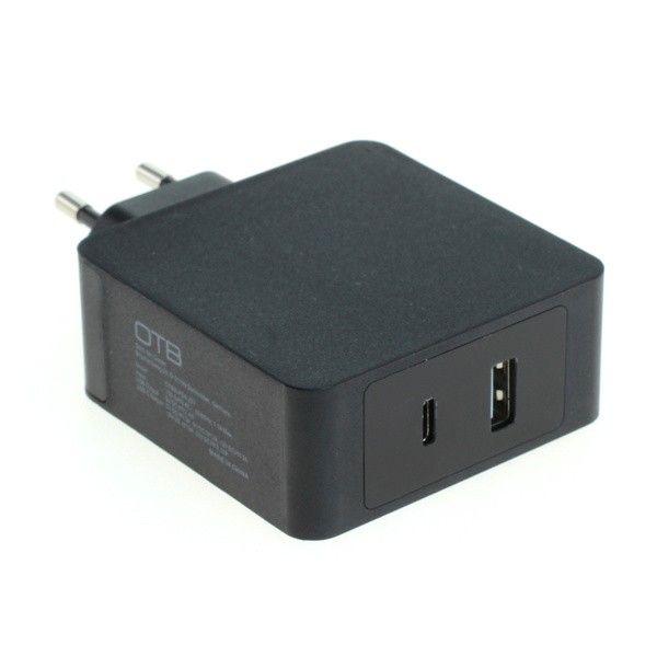 Dual Charger USB-C / USB-A (45W USB-PD) 57Watt