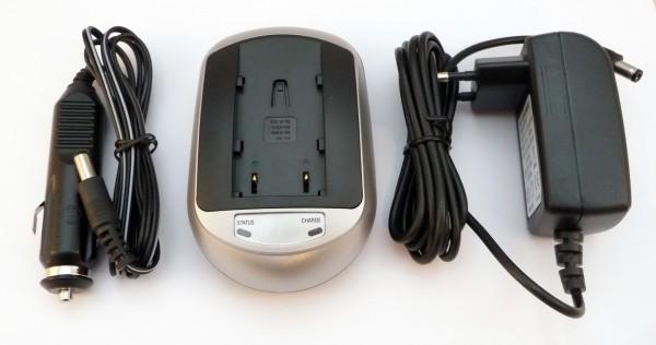 Li-Ion Schnell-Ladegerät passend für Sony NP-QM50,