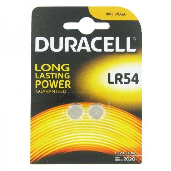 25x Duracell AG10, LR54, LR1130, Batterien 2er Packung
