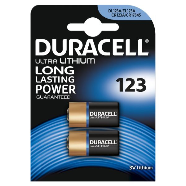 Duracell Ultra DL123A, CR123A Lithium Batterien 2er Pack